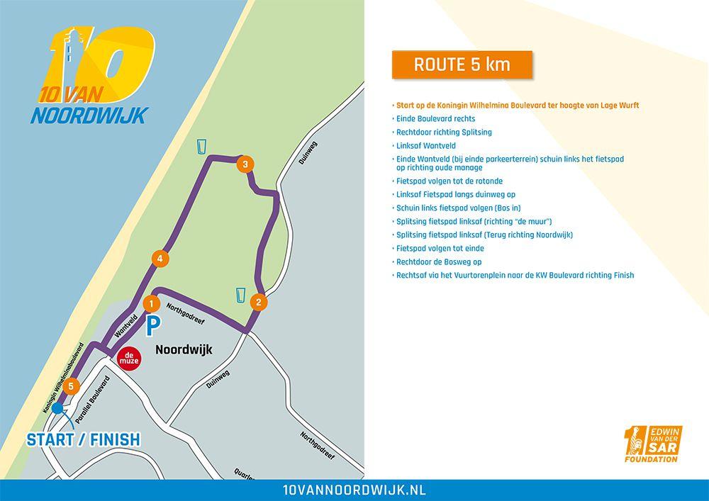 Parcours 5 kilometer